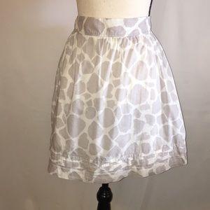 Loft Giraffe Print Lined Mini Skirt 12P